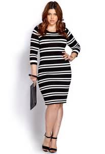 HD wallpapers plus size black and white striped dress