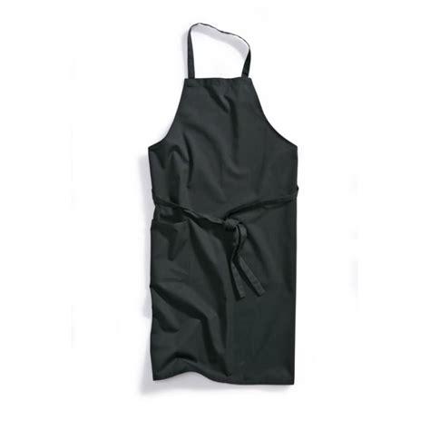 vetement de cuisine tablier de cuisine à bavette noir