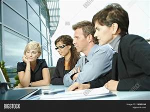 Group Young Business People Sitting Image & Photo | Bigstock