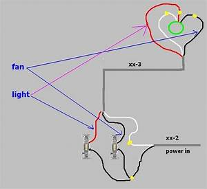 Wiring Fan And Light Separate - Electrical