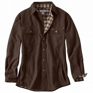 carhartt 39 s weathered canvas flannel lined shirt jac 100590