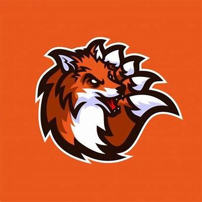 Fox Gaming Mascot Esport Template Fortnite Vector