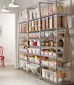 47 cool kitchen pantry design ideas shelterness With metal pantry shelving units