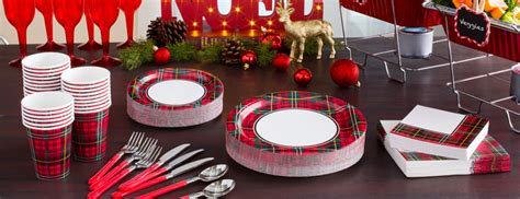 tartan christmas party supplies party delights