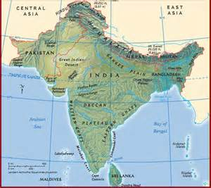 South Asia Physical Features Map