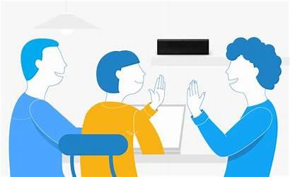 Business Team Lametric Successful Smile Office Smart