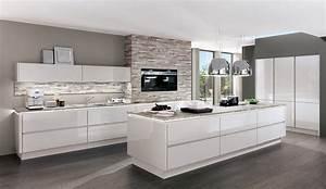 Hängeschrank Küche Grau : design einbauk che norina 9555 seidengrau hochglanz lack grifflos k chenquelle ~ Markanthonyermac.com Haus und Dekorationen