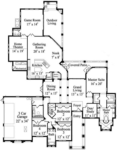 house plans with photos one story pictures one story luxury floor plans luxury hardwood flooring one