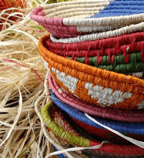 raffia coil weaving workshop basket  earrings adelaide