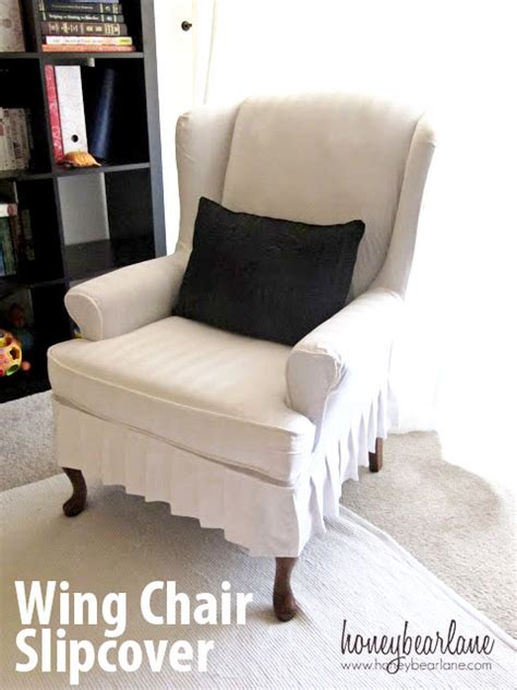 wing chair slipcovers my wing chair slipcover reveal