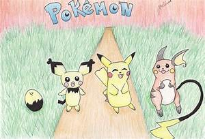 Evolution chart of Pikachu by mellie27 on DeviantArt