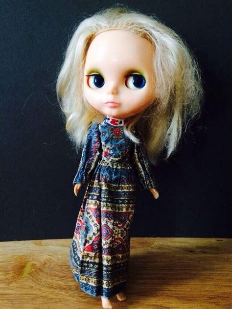 vintage blythe kenner doll  blonde paisley dress