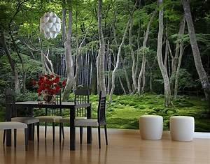 Selbstklebende Tapete Fototapete Wald Japanischer Wald