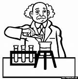 Scientist Coloring Pages Science Drawing Professions Famous Being Magdalena Denis 2nd November Getdrawings sketch template