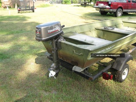 Alumacraft Boat Models by 1994 Alumacraft Jon Boat Model 1236 Trailer 5 Hp Motor