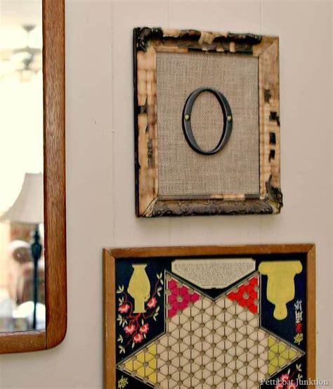 framed burlap monogram wall art domestically speaking