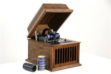 SOLD   Edison Oak Antique Amberola 30 Phonograph, Tabletop
