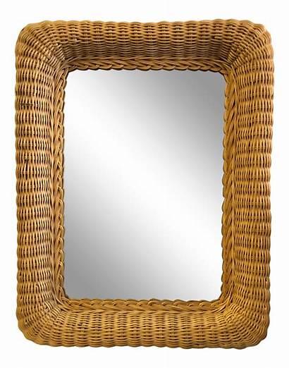 Chairish Wicker Mirror