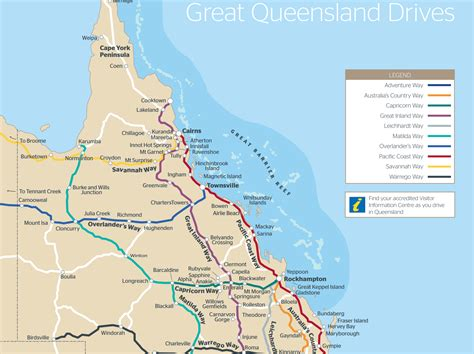 queensland drive maps outback queensland