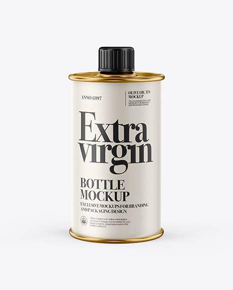 The most common olive oil bottle material is glass. 1L Olive Oil Metal Bottle Mockup - 750ml Ceramic Olive Oil ...
