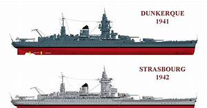 French Battleships Dunkerque 1941  U0026 Strasbourg 1942