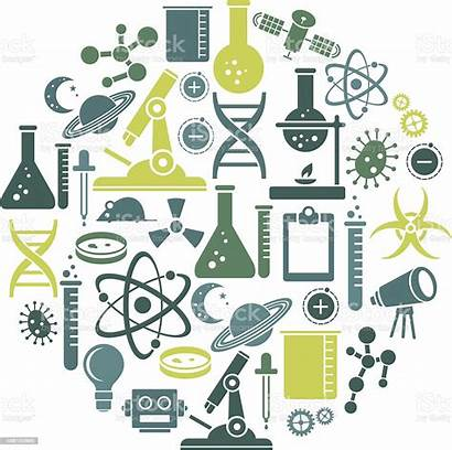 Science Tools Scientific Icon Variety Vector Illustration