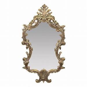 Miroir Baroque Argenté : miroir baroque louis xv en bois dor miroir rocaille ~ Teatrodelosmanantiales.com Idées de Décoration