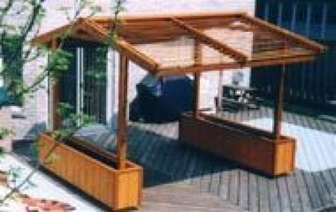 how to build a 4 post louvered deck roof