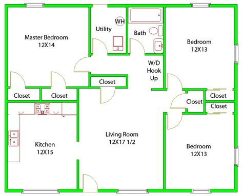 awesome  bedrooms floor plan pictures house plans