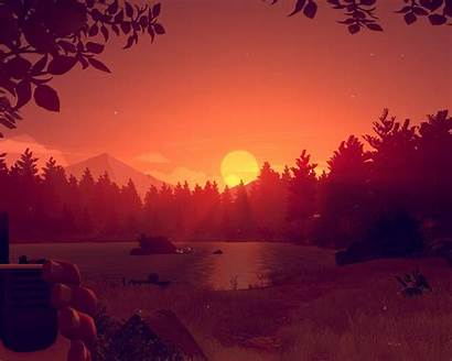 Firewatch Sunset Wallpapers Resolution Pc Games Backgrounds