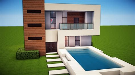 minecraft simple easy modern house tutorial   build   images minecraft
