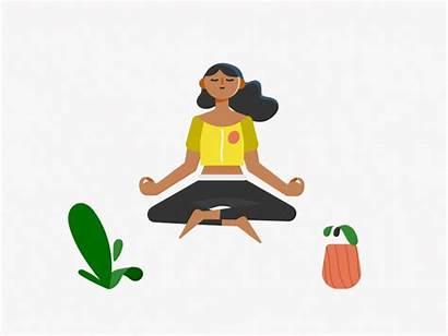 Meditation Hypnosis Gifs Dribbble Yoga Animated Animation