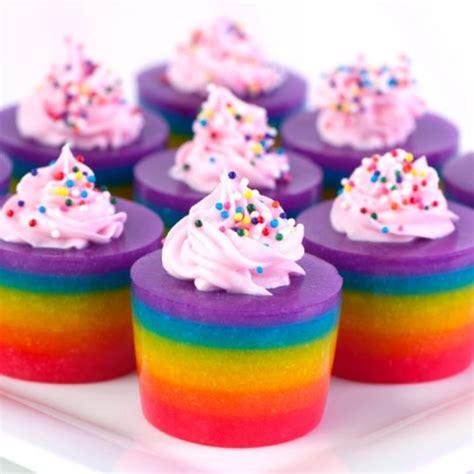 rainbow layered cake jello shots
