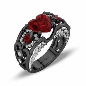 black promise ringswomens black ringsblack wedding rings With vancaro mens wedding rings