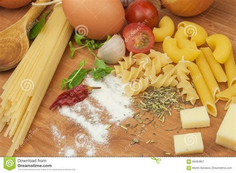 Homework Pasta Foods. Ingredients For Cooking, Spread Out