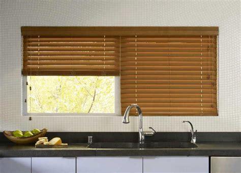 faux wooden blinds kitchen windows best kitchen window treatments and