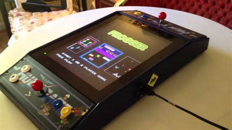Mame Arcade Bartop Cabinet Plans by Mini Arcade Cocktail Cabinet Part 2 The Games Youtube