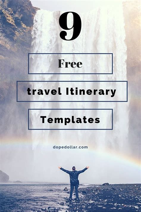 Trip Itinerary Word Template by Free Travel Itinerary Templates For Travel Flight Vacations
