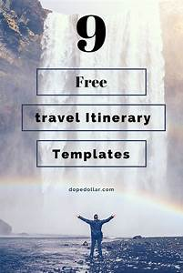 Vacation Travel Itinerary Template Free Travel Itinerary Templates For Travel Flight Vacations