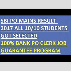 Sbi Po Mains Result 2017 All 1010 Students Selected  Congratulations Youtube