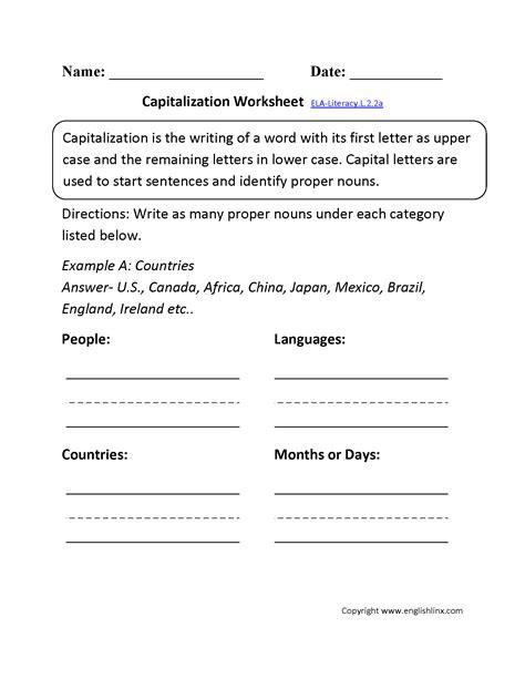 2nd grade language worksheets worksheets for all