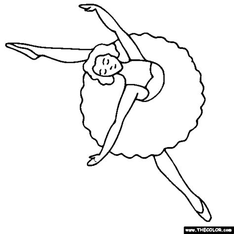 Ballet Dancer Coloring Pages