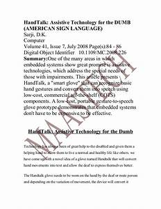 HandTalk: Assistive Technology for the DUMB (AMERICAN SIGN ...