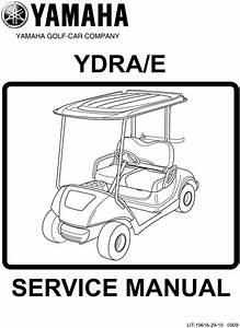 Yamaha G29 Ydra  E Service Manual Golf Cart 2010
