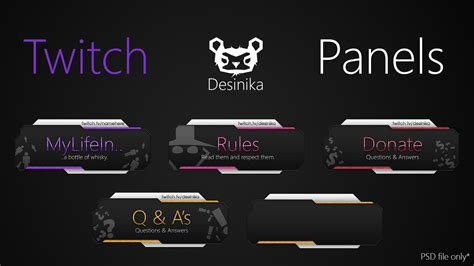 Twitch Panels / Button (.zip Dlc) By Desinika On Deviantart