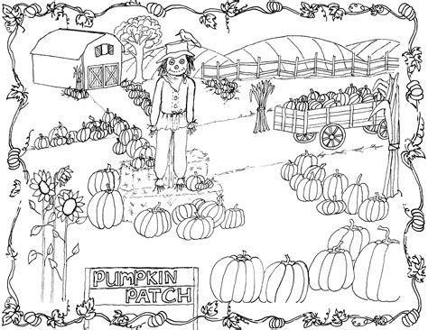 pumpkin patch coloring page printable  graphics fairy