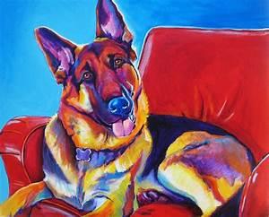 German Shepherd - Zeke Painting by Alicia VanNoy Call
