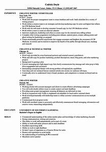 creative writer resume samples velvet jobs With creative resume writing services