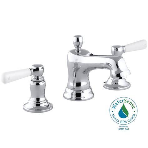 kohler bancroft bathroom sink faucet kohler bancroft 8 in widespread 2 handle low arc water