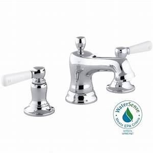 kohler bancroft 8 in widespread 2 handle low arc water With water saving bathroom faucets